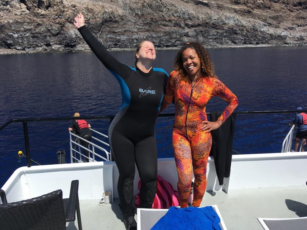 Happy guests aboard the Nautilus UnderSea