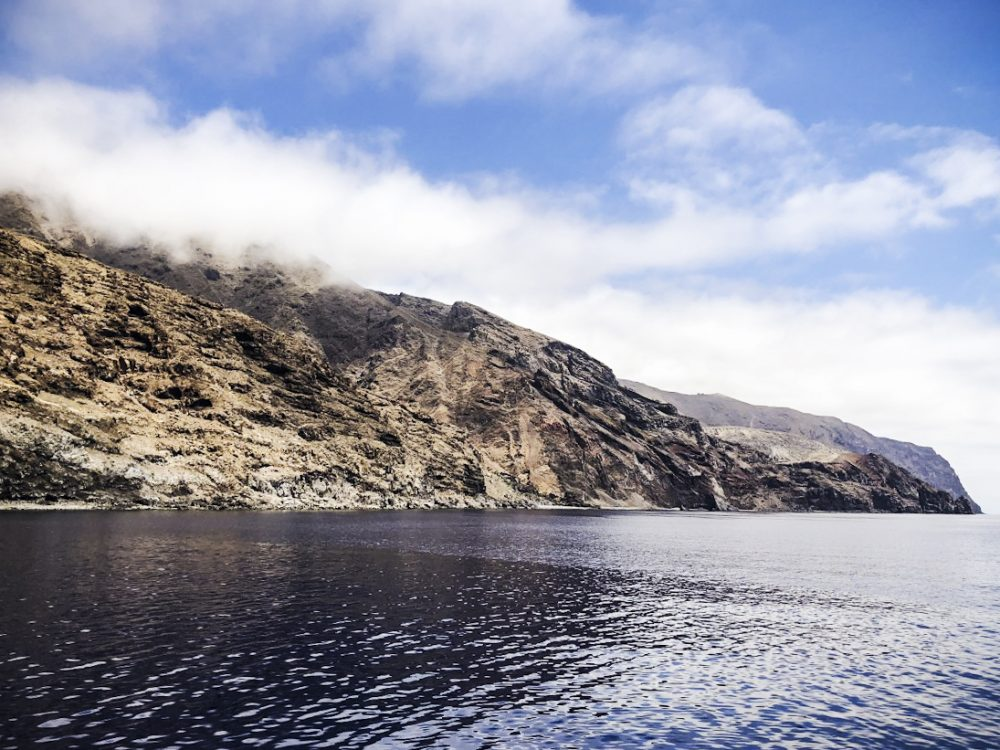 Guadalupe Island in the sunshine