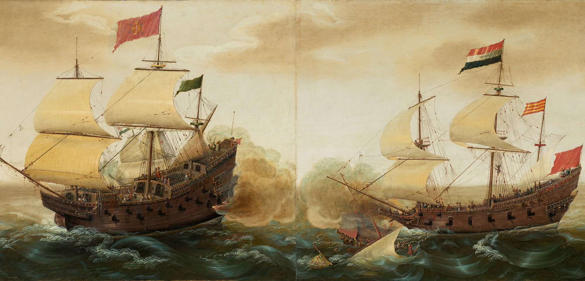 Manila Galleons were part of the history of Guadalupe Island, Painting by Cornelis Verbeeck, circa 1618