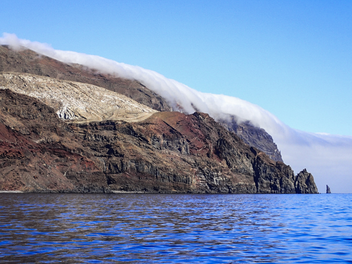 The amazing cloud waterfalls on Guadalupe Island