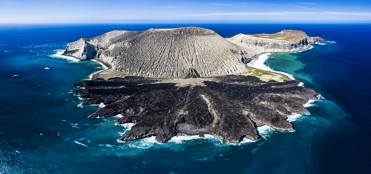 San Benedicto Island from above. Photo by Chuck Babbit