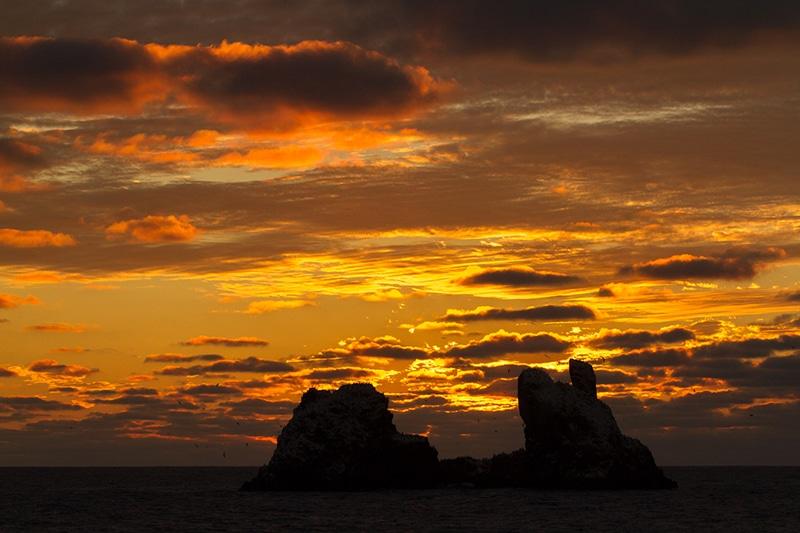 Roca Partida at sunset